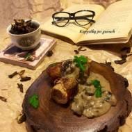 Roladki ze schabowe w kremowym sosie ze świeżych i suszonych grzybów