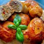 Udka kurczaka faszerowane mięsem i warzywami