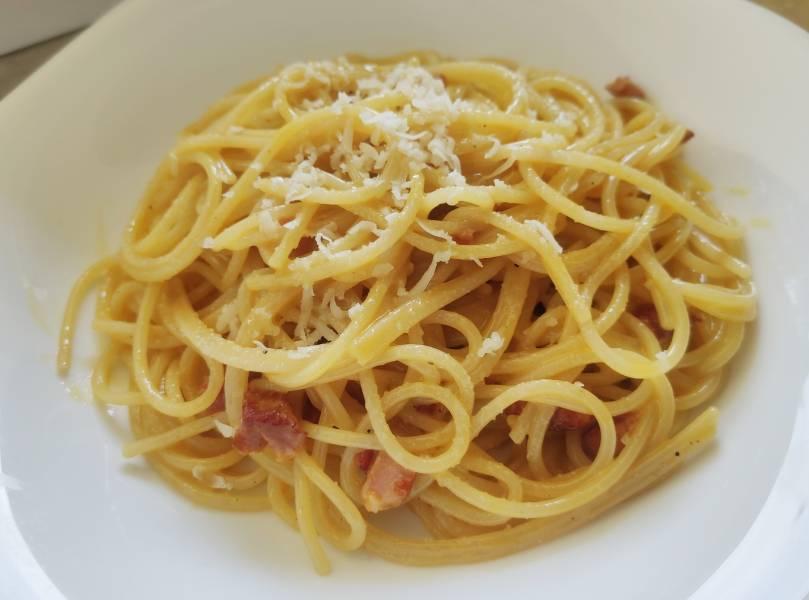 Spaghetti carbonara (bez śmietany)