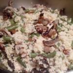 Kuskus z pieczarkami i fasolką szparagową