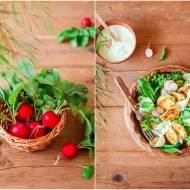 Sałata z panierowanymi krążkami cukinii / Lettuce with breaded zucchini rings