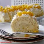 Rolada biszkoptowa z kremem z mango