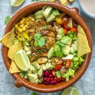 Sałatka meksykańska z kurczakiem