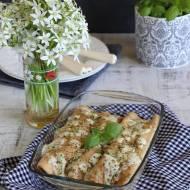 Zielone naleśniki z kurczakiem, szparagami i szpinakiem