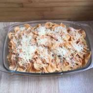 Makaron z boczkiem, pomidorami i mascarpone