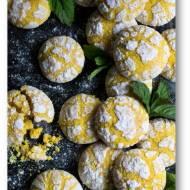 """Popękane ciasteczka cytrynowe """"lemon crinkle cookies"""""""