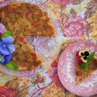 Tarte tatin, czyli odwrócone tarta  z rabarbarem