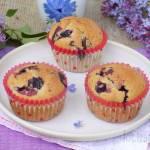 Muffinki z czekoladą i jagodami kamczackimi na kremówce