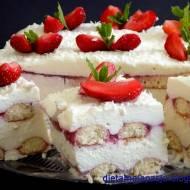 Ciasto truskawkowa rozpusta - bez pieczenia
