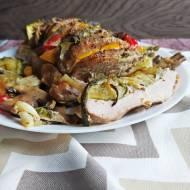Schab faszerowany warzywami