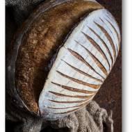Domowy pszenny chleb na zakwasie – chleb z gara