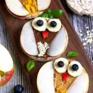 Sówki z wafli ryżowych (dla dzieci)