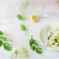 Spaghetti ze szpinakiem i lubczykiem / Spaghetti with spinach and lovage