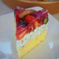 Keto torcik straciatella z owocami (Paleo, LowCarb)