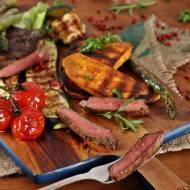 Stek z warzywami z grilla