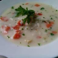 Zupa ryżowa zabielana