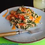 Kuskus ze szpinakiem i pomidorami