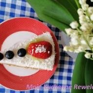 FIT kokosowy sernik na zimno z owocami (skyrnik bez cukru)