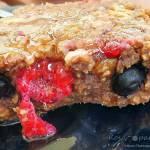 Ciasto fit z płatków owsianych z owocami
