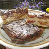 sypane ciasto śliwkowe, łatwe i smaczne...