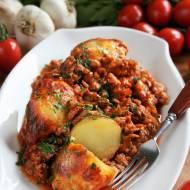 Ziemniaki zapiekane z sosem bolognese