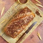 Chleb pszenno-żytni na zakwasie z siemieniem lnianym
