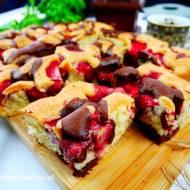 Ekspresowe ciasto Łaciatek z truskawkami