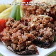 Pieczarki portobello faszerowane mięsem mielonym