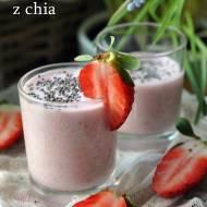 Koktajl truskawkowy z chia