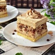 Ciasto Santoska - kawa, kajmak i orzechy