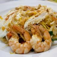 Pad Thai z makaronem ryżowym i krewetkami