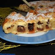 Szybkie ciasto czereśniowe w kształcie ślimaka