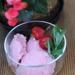 Lody truskawkowe z jogurtem