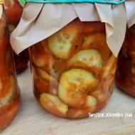 Ogórki w pomidorach  do słoików