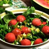 Surówka z rukoli i arbuza