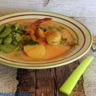 Zupa botwinkowa z bobem
