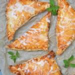 Ciastka francuskie z rabarbarem w mascarpone i białej czekoladzie