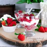 Deser bezowy z truskawkami (wegańskie bezy)