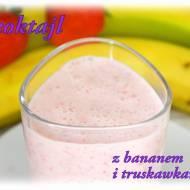 Koktajl truskawkowo-bananowy
