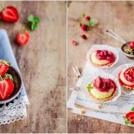 Kruche babeczki z cytrynowym pâtissière i truskawkami / Shortbread muffins with lemon pâtissière and strawberries