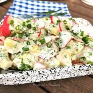 Sałatka z ziemniaków i rzodkiewki ( idealna do grilla)