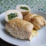 Filety z kurczaka faszerowane szpinakiem