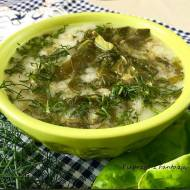 Zupa z sałaty – sałata parzona – sałacianka