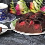 Najszybsze ciasto kakaowe z truskawkami