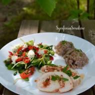 149. Prosty i pyszny obiad, czyli roladki z piersi z kurczaka z serkiem śmietankowym, suszonymi pomidorami i bazylią
