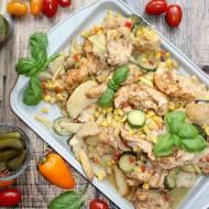 Polędwiczki z kurczaka z warzywami – obiad z piekarnika