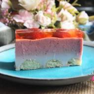 Ciasto bez pieczenia podwójnie truskawkowe