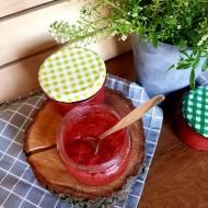Konfitura z truskawek i rabarbaru bez cukru