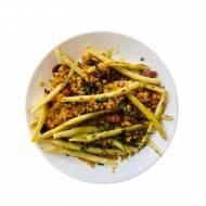 Sałatka z fasolki szparagowej z soczewicą
