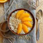 Owsianka z tahini i pomarańczami